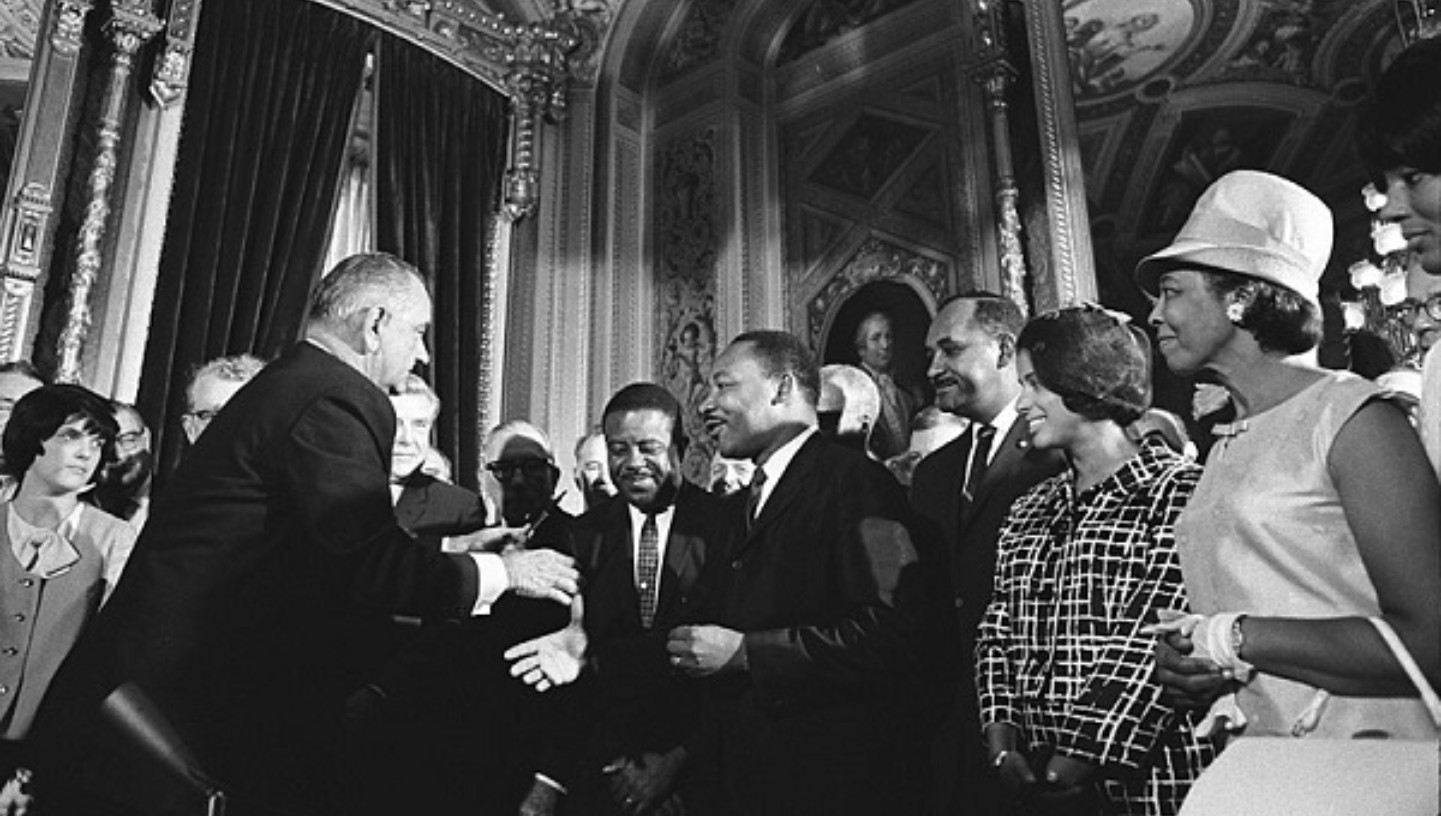 Martin Luther King spreekt in Washington