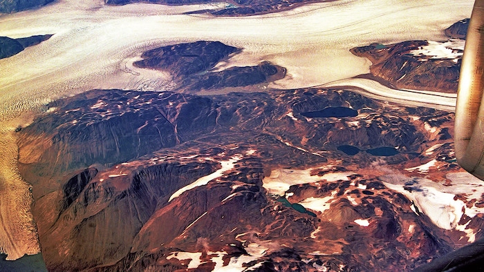 Carl Campbell, Flying Over Greenland (1995). Bron: Flickr Carl Campbell